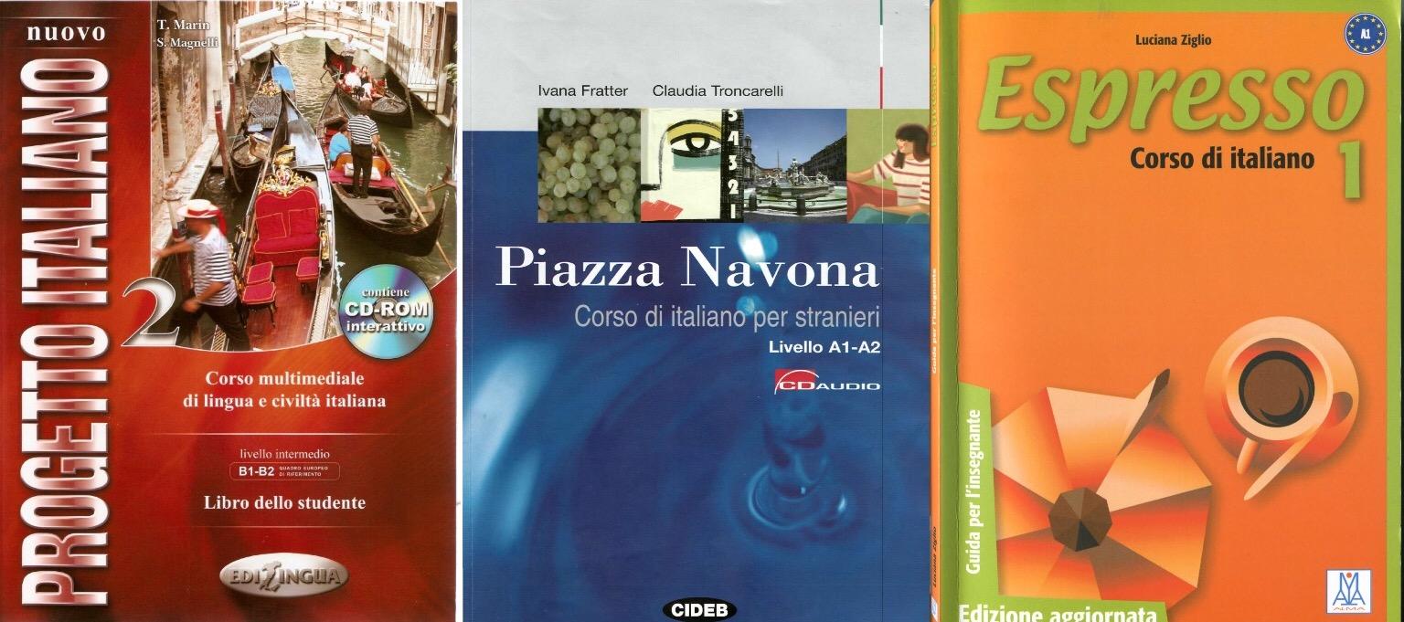 Книги по общему итальянскому и языковые уровни