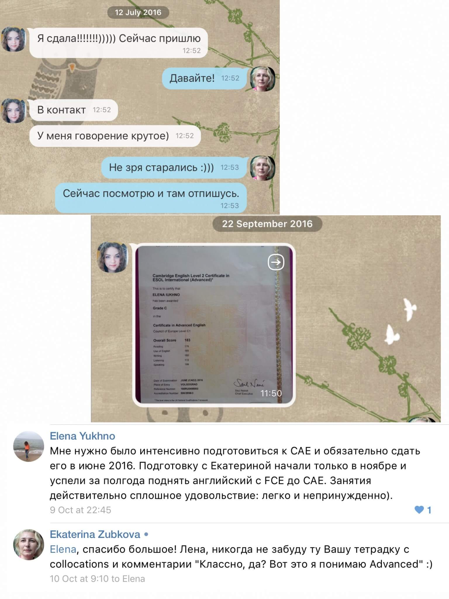 Отзыв о курсе CAE