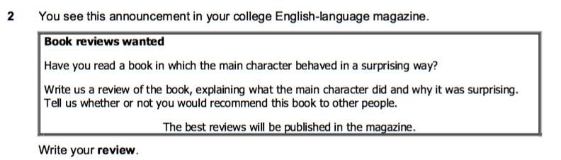 FCE review task