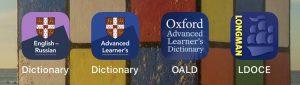 Longman, Oxford, Cambridge dictionaries